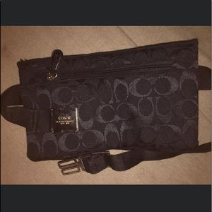 Black Coach fanny pack. Small waist size.
